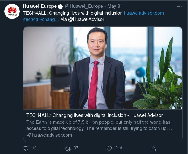 Huawei Europe shares huaweiadvisor.com content